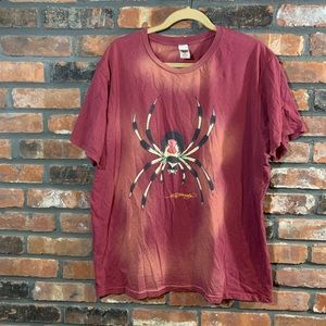Ed Hardy Tied Dye S/S Cotton Spider Graphic Tee
